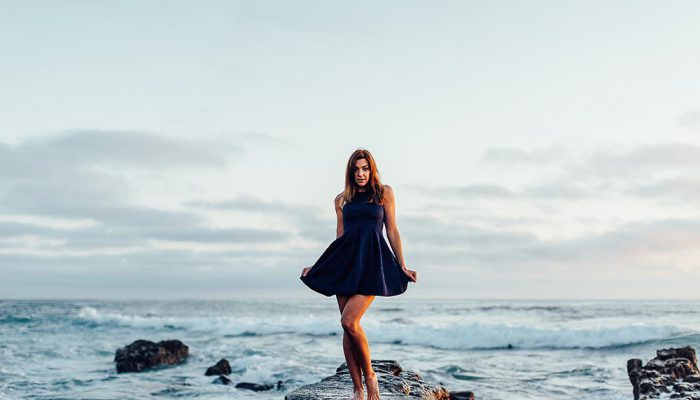 Posing In A Cute Dress